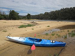 Kayak on Bega River